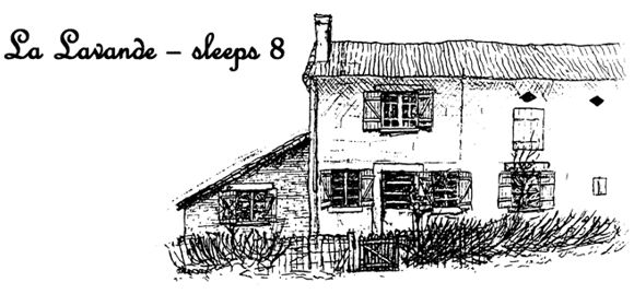 Etching of La Lavande - Sleeps 8 people